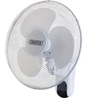 Draper Remote Controlled Wall Mounted Fan