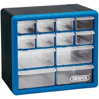 Draper 12 Drawer Wall Mountable Organiser Cabinet