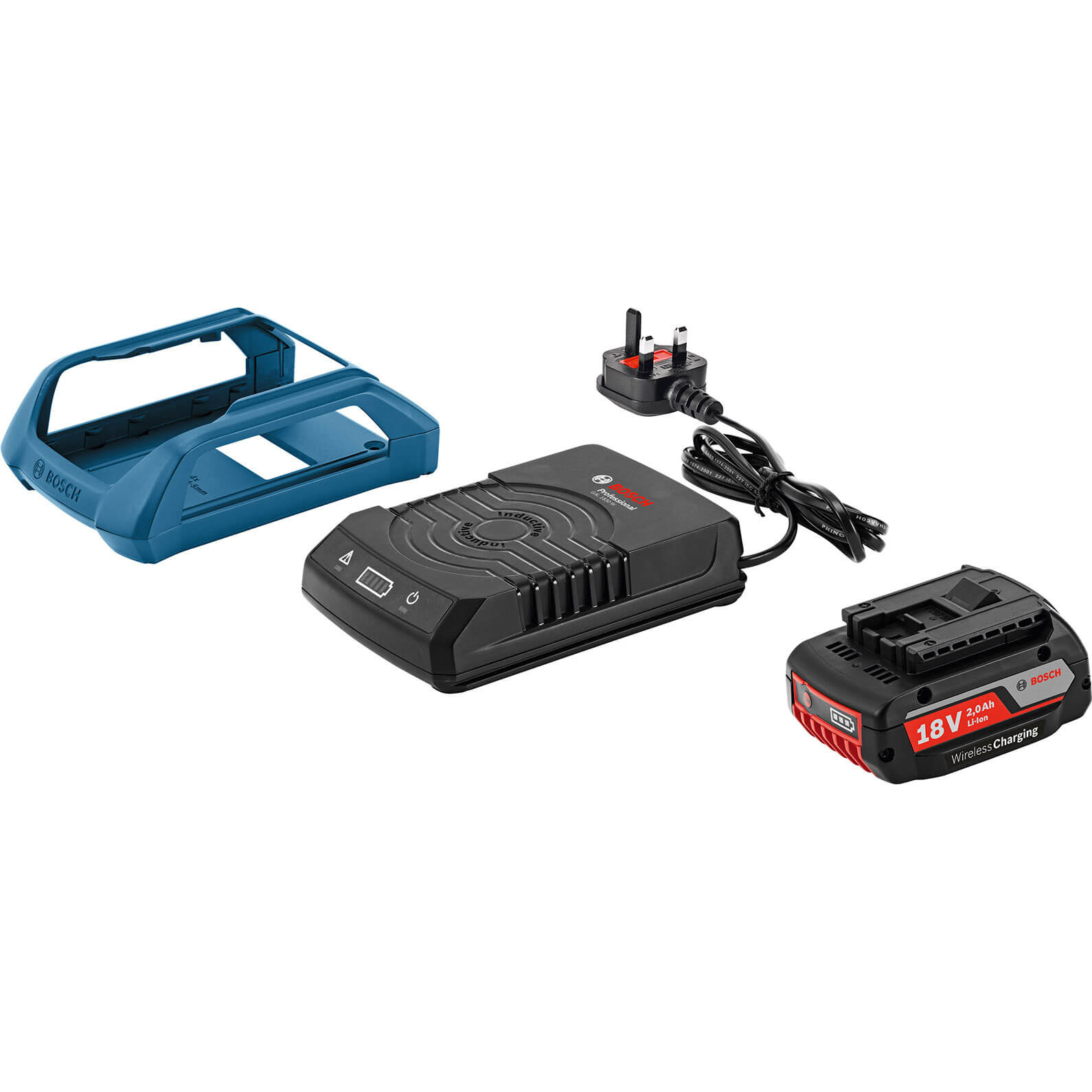 Image of Bosch GAL 1830 18v Cordless Wireless Battery Charger & 1 Li-ion Battery 2ah 240v