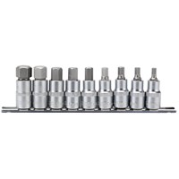 "Draper 9 Piece 1/2"" Drive Hexagon Socket Bit Set"
