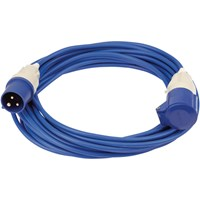 Draper Extension Trailing Lead 16 amp 2.5mm Blue Cable 240v