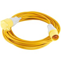 Draper Extension Trailing Lead 16 amp Yellow Cable 110v