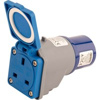Draper 230v 16A to 13A Moulded Adaptor