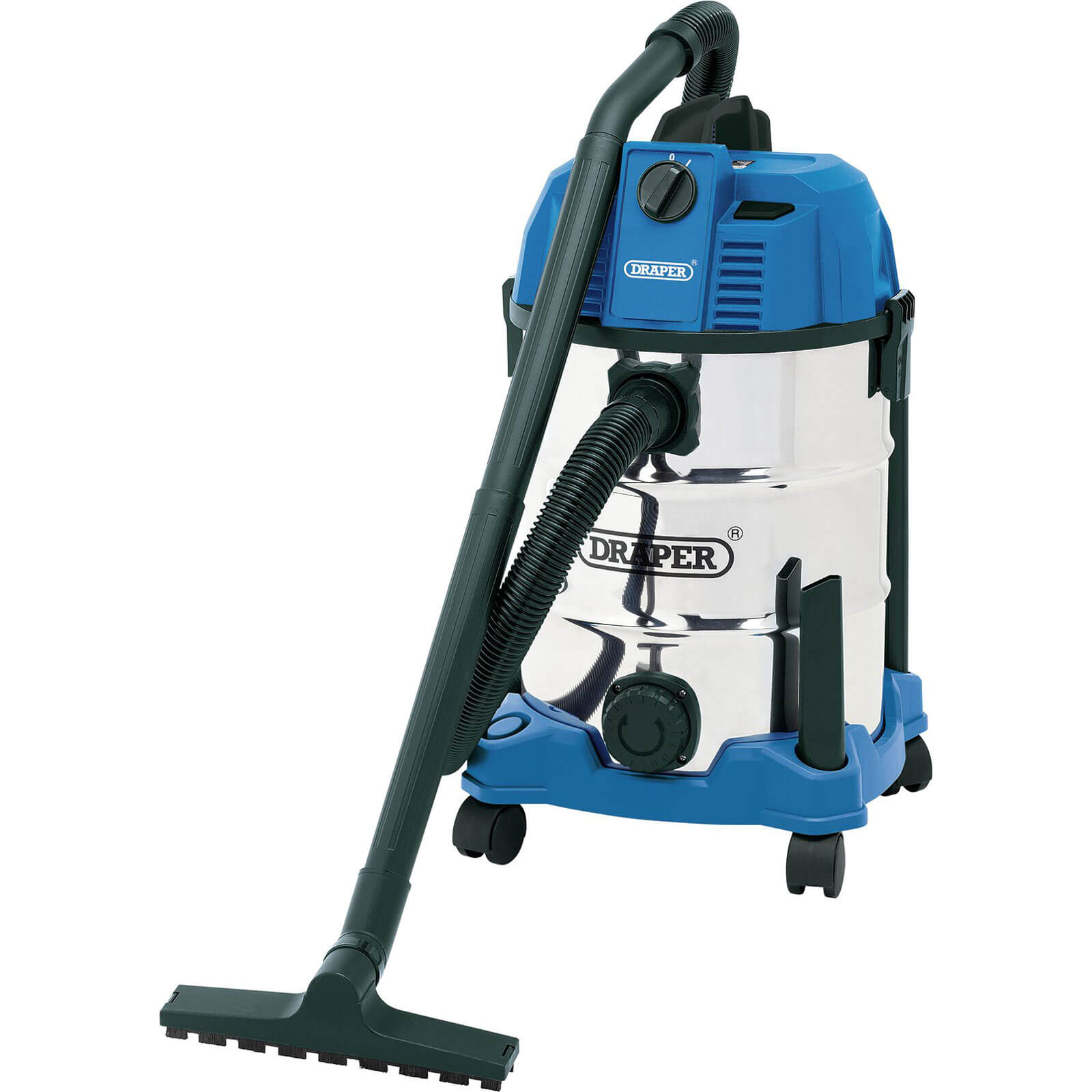 Draper 30L Wet and Dry Vacuum Cleaner With Stainless Steel Tank 1600W 240v