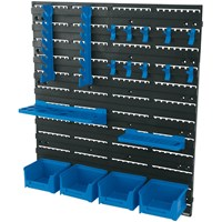 Draper 18 Piece Wall Mounted Tool Storage Board