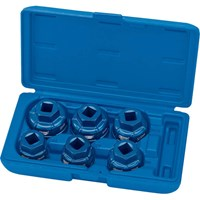 "Draper Expert 6 Piece 1/2"" Drive Oil Filter Cap Socket Set"