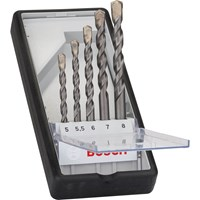 Bosch 5 Piece Silver Percussion Masonry Drill Bit Set