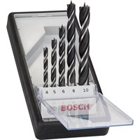 Bosch 5 Piece Brad Point Wood Drill Bit Set