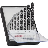 Bosch Robust Line 8 Piece Brad Point Wood Drill Bit Set