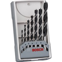 Bosch 7 Piece Brad Point Wood Drill Bit Set
