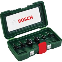 "Bosch 6 Piece 1/4"" Router Bit Set"