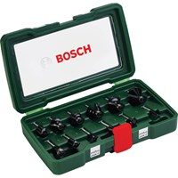 "Bosch 12 Piece 1/4"" Router Bit Set"