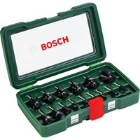 "Bosch 15 Piece 1/4"" Router Bit Set"