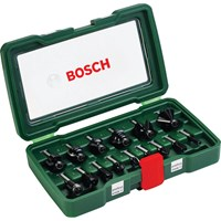 Bosch 15 Piece 8mm Shank Router Bit Set