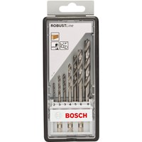 Bosch Robust Line 7 Piece HSS Hex Shank Brad Point Drill Set