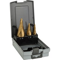 Bosch 3 Piece HSS-TiN Step Drill Bit Set