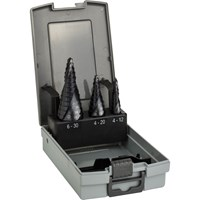 Bosch 3 Piece HSS-AlTiN Step Drill Bit Set