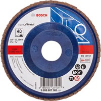 Bosch X551 Expert for Metal Straight Flap Disc