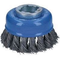 Bosch X Lock Knotted Steel Wire Cup Brush 0.35mm