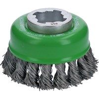 Bosch X Lock Knotted Stainless Steel Wire Cup Brush