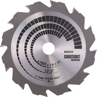 Bosch Construct Wood Cutting Saw Blade