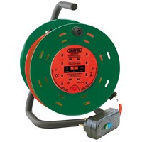 Draper Four Socket Garden Cable Reel & RCD Adaptor