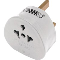 Draper All 2 Pin Euro and Worldwide Travel Plug Adaptor
