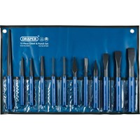 Draper 12 Piece Cold Chisel and Punch Set