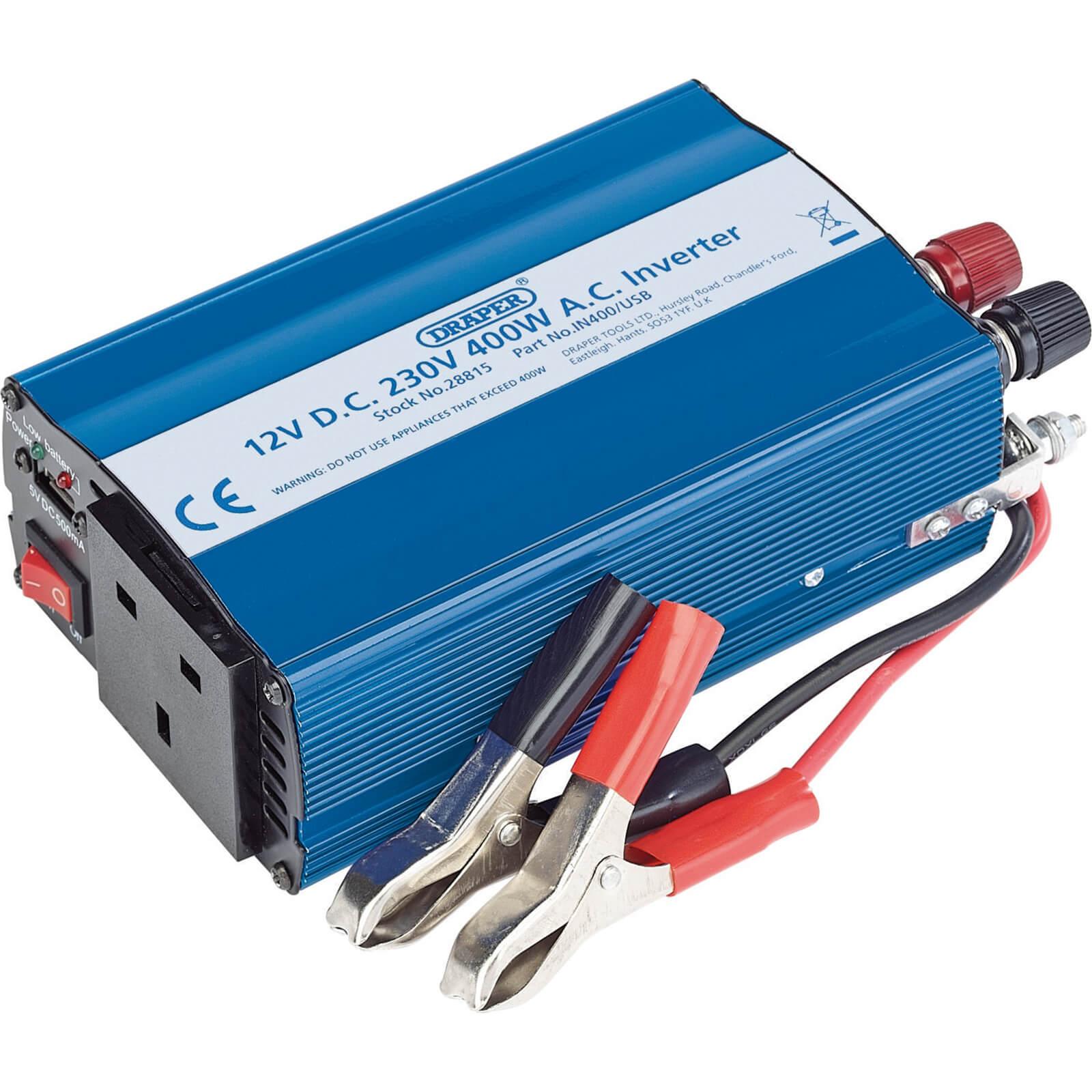 Draper IN400/USB 12v DC to 240v AC Power Inverter