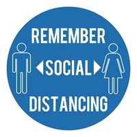 Draper Social Distancing Floor Sticker