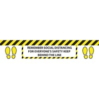 Draper Social Distancing Line Floor Sticker