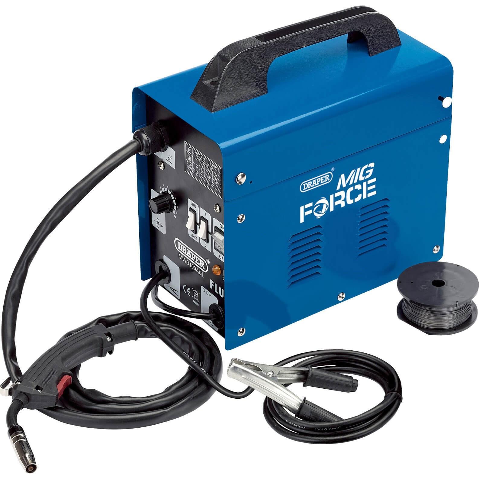 Draper MWD100AGL Gas / Gasless Turbo Mig Welder 90amp