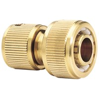 Draper Expert Brass Garden Hose Pipe Connector