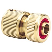 Draper Expert Brass Waterstop Hose Pipe Connector