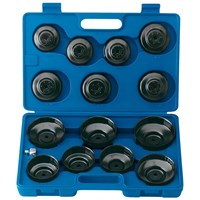 "Draper Expert 15 Piece 3/8"" Drive Oil Filter Cup Socket Set"