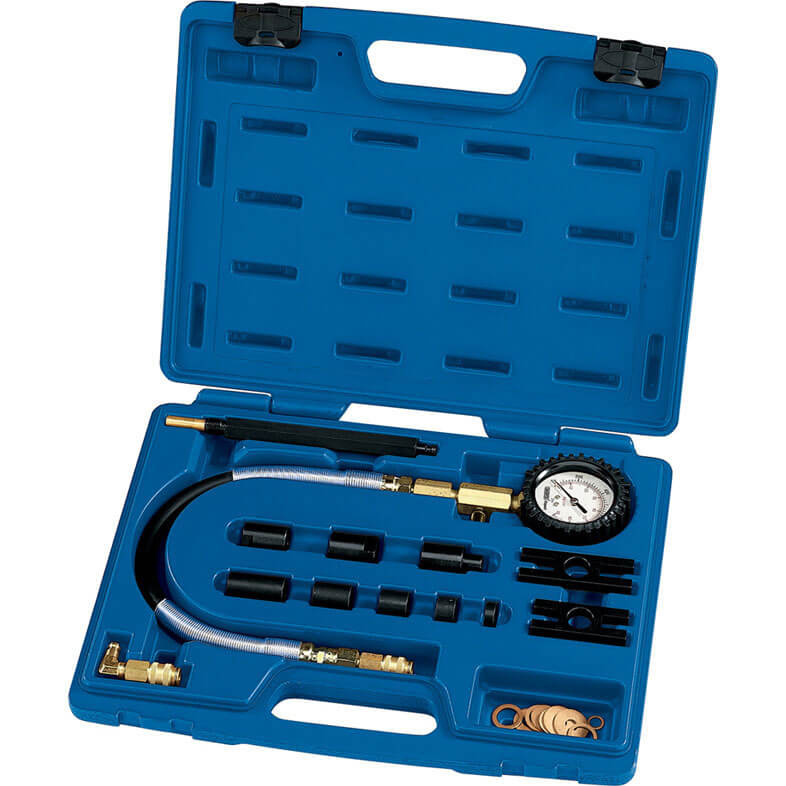 Direct and Indirect Injection Engines Set of 18 Piece Diesel Engine Compression Tester Kit