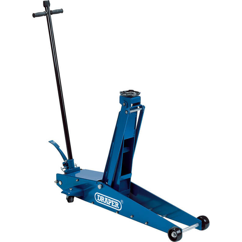 Image of Draper Heavy Duty Long Chassis Trolley Jack 2 Tonne