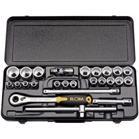 "Elora 25 Piece 1/2"" Drive Bi Hex Socket Set Metric"