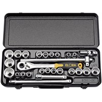 "Elora 28 Piece 1/2"" Drive Bi Hex Socket Set Metric & Imperial"