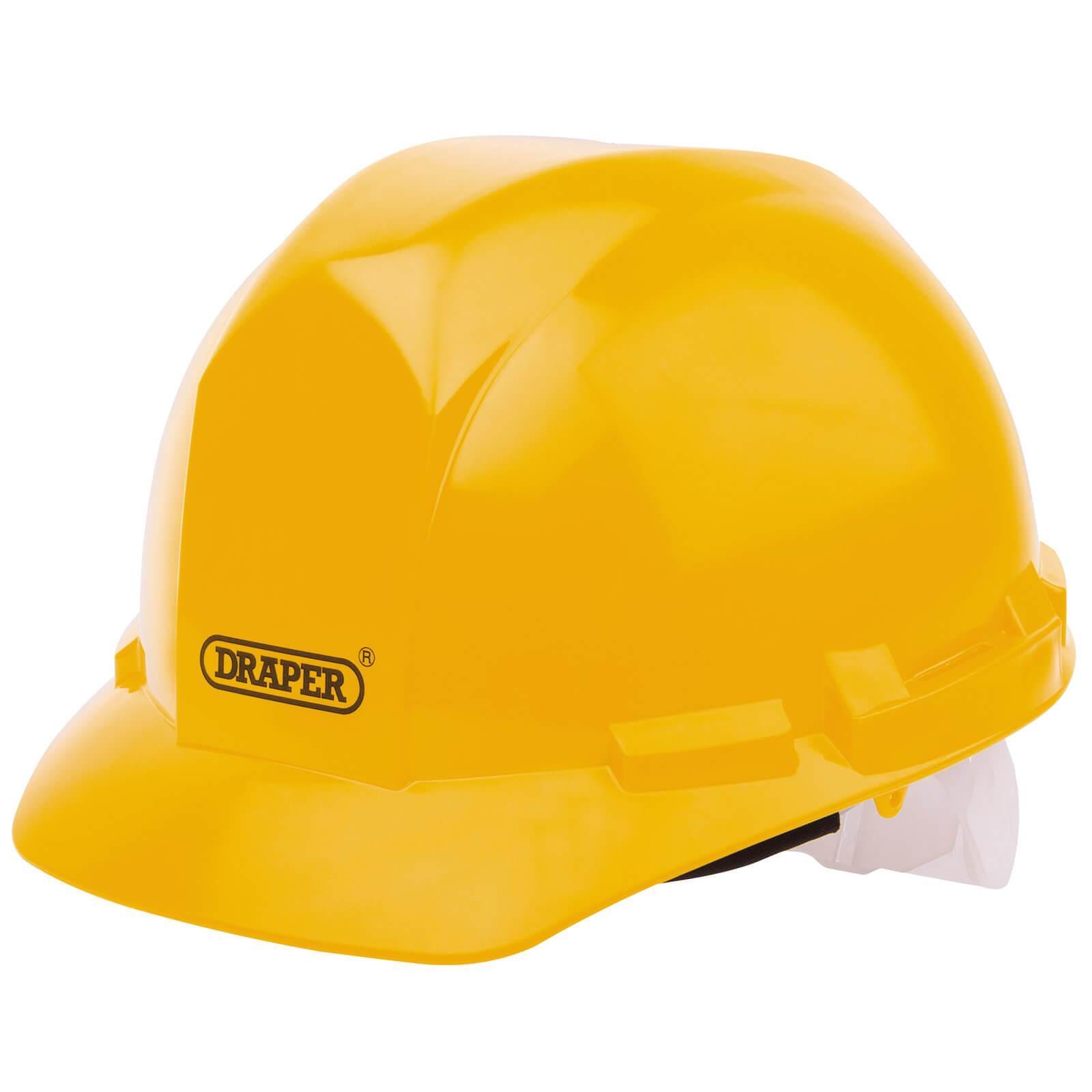 Draper Hard Hat Safety Helmet Yellow