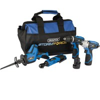Draper Storm Force 10.8v Cordless 4 Piece Power Tool Kit