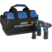 Draper Storm Force 10.8v Cordless 2 Piece Power Tool Kit