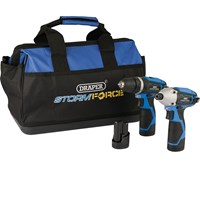 Draper Storm Force 10.8v Cordless 3 Piece Power Tool Kit