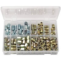 Draper Expert 205 Piece Brake Pipe Fitting Kit Male and Female