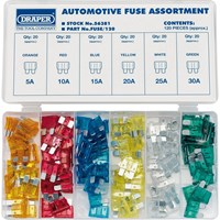 Draper 120 Piece Automotive Fuse Assortment