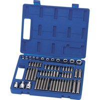 Draper Expert 61 Piece Combination Drive Torx Socket & Screwdriver Bit Set