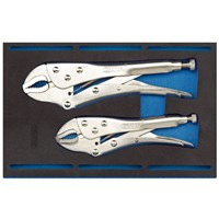 Draper 2 Piece Self Grip Plier Set In 1/4 Drawer Eva Insert Tray