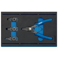 Draper 5 Piece Interchangeable Circlip Plier Set In Eva Insert Tray