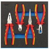 Draper 4 Piece VDE Insulated Plier Set In Eva Insert Tray