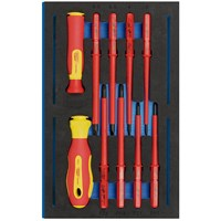 Draper 10 Piece VDE Insulated Ergo Plus Screwdriver Set In Eva Insert Tray